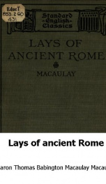 Lays of Ancient Rome_cover