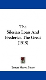 the silesian loan and frederick the great_cover