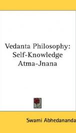 vedanta philosophy self knowledge atma jnana_cover