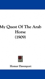 my quest of the arab horse_cover