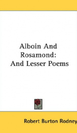 alboin and rosamond and lesser poems_cover
