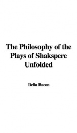 The Philosophy of the Plays of Shakspere Unfolded_cover