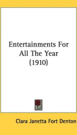 entertainments for all the year_cover