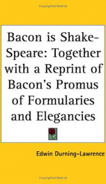 bacon is shake speare together with a reprint of bacons promus of formularies_cover