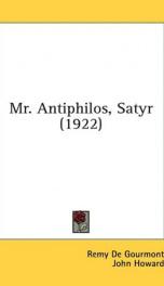 mr antiphilos satyr_cover