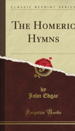 the homeric hymns_cover