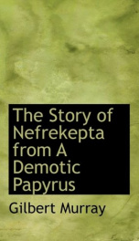 the story of nefrekepta from a demotic papyrus_cover
