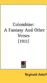 colombine a fantasy and other verses_cover