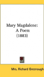 mary magdalene a poem_cover