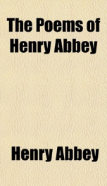 the poems of henry abbey_cover