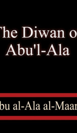 The Diwan of Abu'l-Ala_cover
