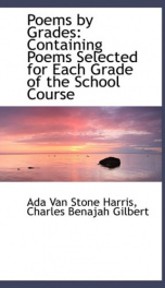 poems by grades containing poems selected for each grade of the school course_cover