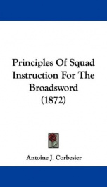 principles of squad instruction for the broadsword_cover