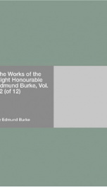 The Works of the Right Honourable Edmund Burke, Vol. 02 (of 12)_cover
