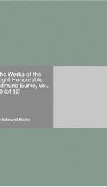 The Works of the Right Honourable Edmund Burke, Vol. 03 (of 12)_cover