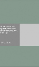 The Works of the Right Honourable Edmund Burke, Vol. 07 (of 12)_cover