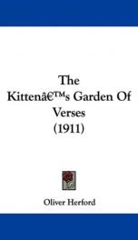 The Kitten's Garden of Verses_cover