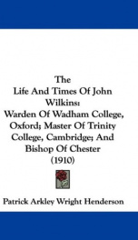 The Life and Times of John Wilkins_cover