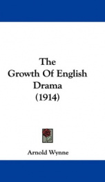 The Growth of English Drama_cover