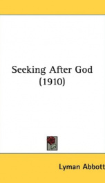 seeking after god_cover