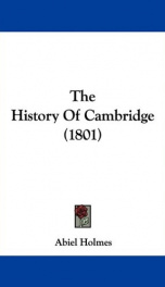 the history of cambridge_cover