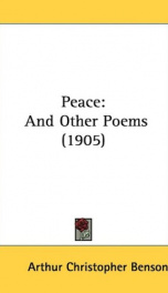 peace and other poems_cover