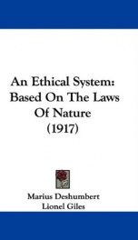 an ethical system based on the laws of nature_cover