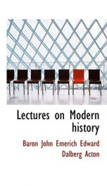 Lectures on Modern history_cover
