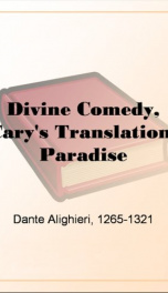 Divine Comedy, Cary's Translation, Paradise_cover