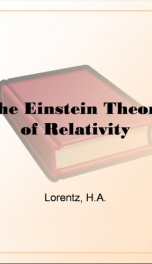 The Einstein Theory of Relativity_cover