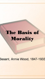 The Basis of Morality_cover