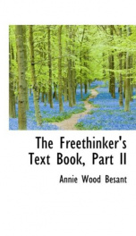 The Freethinker's Text Book, Part II._cover