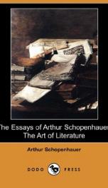 The Essays of Arthur Schopenhauer; The Art of Literature_cover