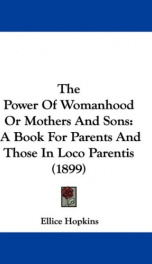 The Power of Womanhood, or Mothers and Sons_cover