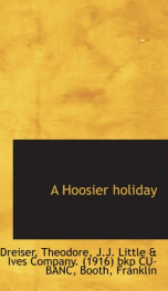 a hoosier holiday_cover