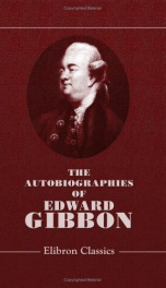 the autobiographies of edward gibbon printed verbatim from hitherto unpublished_cover