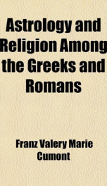 astrology and religion among the greeks and romans_cover