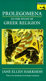 prolegomena to the study of greek religion_cover