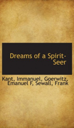 dreams of a spirit seer_cover