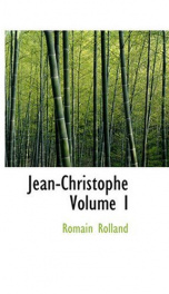 Jean-Christophe, Volume I_cover