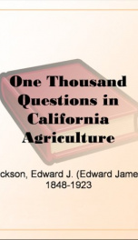 One Thousand Questions in California Agriculture Answered_cover