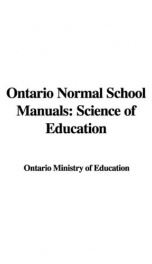 Ontario Normal School Manuals: Science of Education_cover