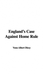 England's Case Against Home Rule_cover