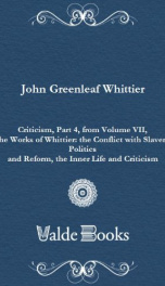 Criticism, Part 4, from Volume VII,_cover