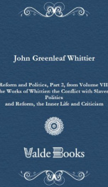 Reform and Politics, Part 2, from Volume VII,_cover