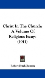 christ in the church a volume of religious essays_cover