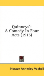 quinneys a comedy in four acts_cover