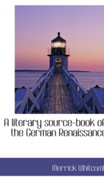 a literary source book of the german renaissance_cover