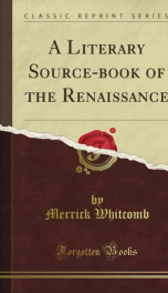 a literary source book of the renaissance_cover