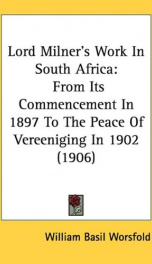 Lord Milner's Work in South Africa_cover